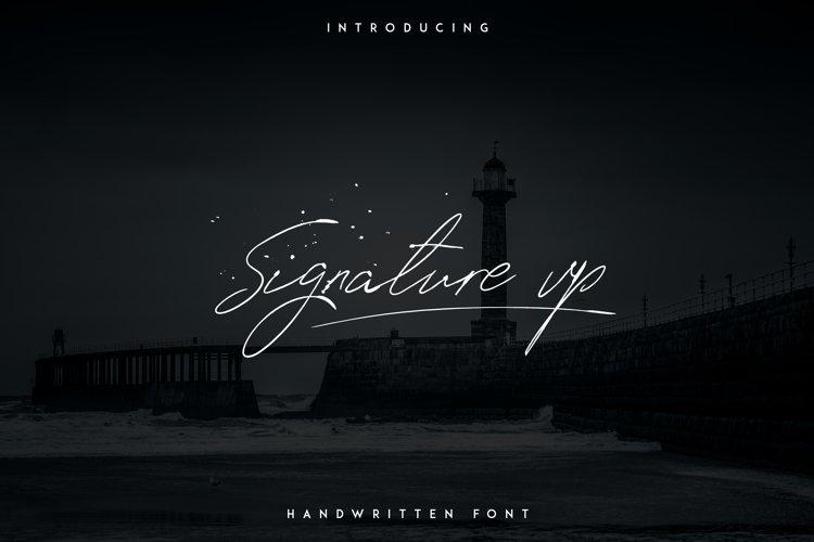Signature vp - Handwritten font