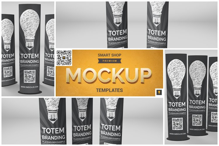 Elliptical Totem Display Mockup example image 1