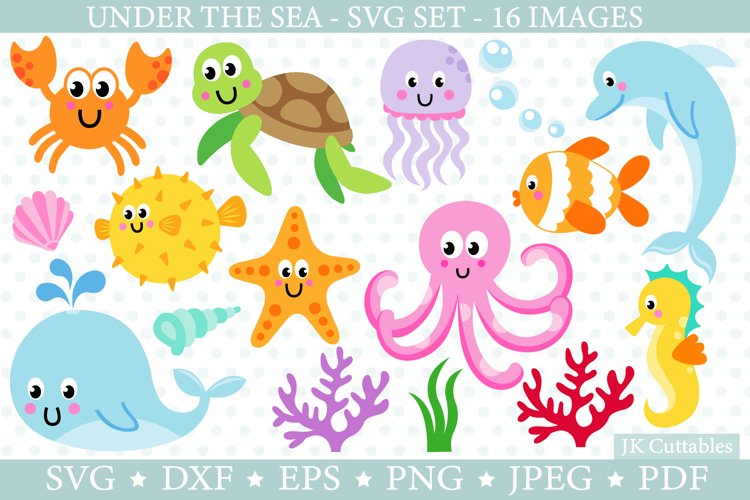 Under the sea animals SVG cut files for crafters | Ocean svg