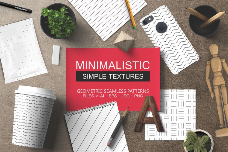 12 Minimalistic seamless patterns example image 1