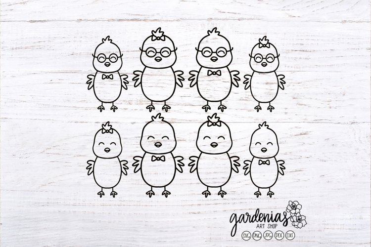 Chicken Family SVG | Car Decal Design | Chick Cut Files