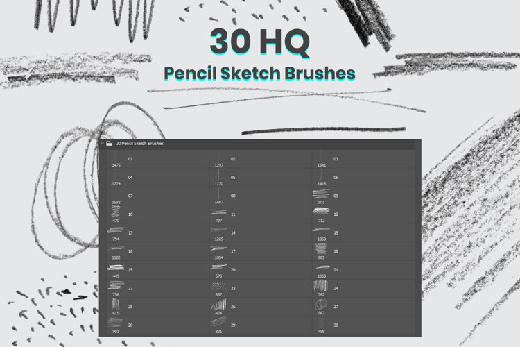 Pencil Sketch Brushes For Photoshop