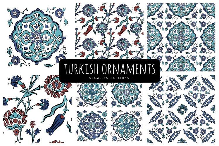 Turkish Ornaments, 6 Seamless Patterns. Vector illustrations