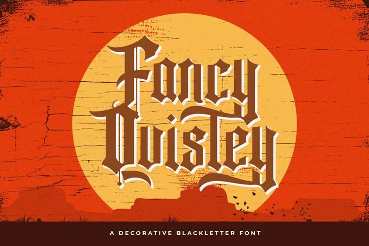 Fancy Quisley - Blackletter Font example image 1