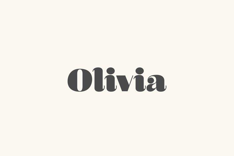 Olivia - A Curvy Typeface