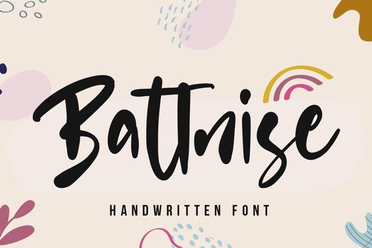 Battnise - whimsical font example image 1