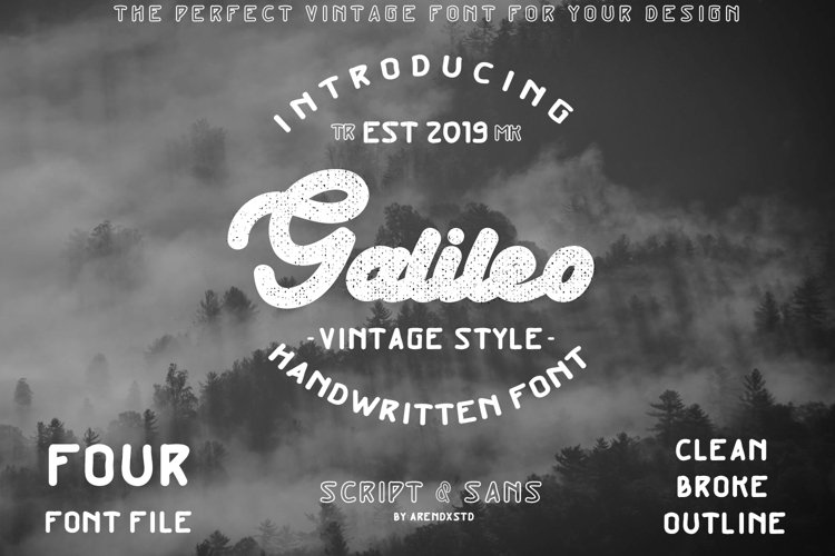 Galileo - Vintage Style - Font Duo example image 1