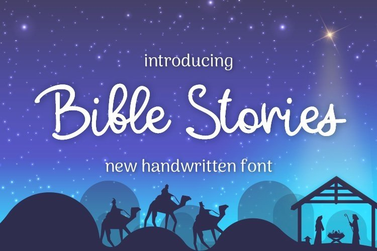 Web Font Bible Stories example image 1