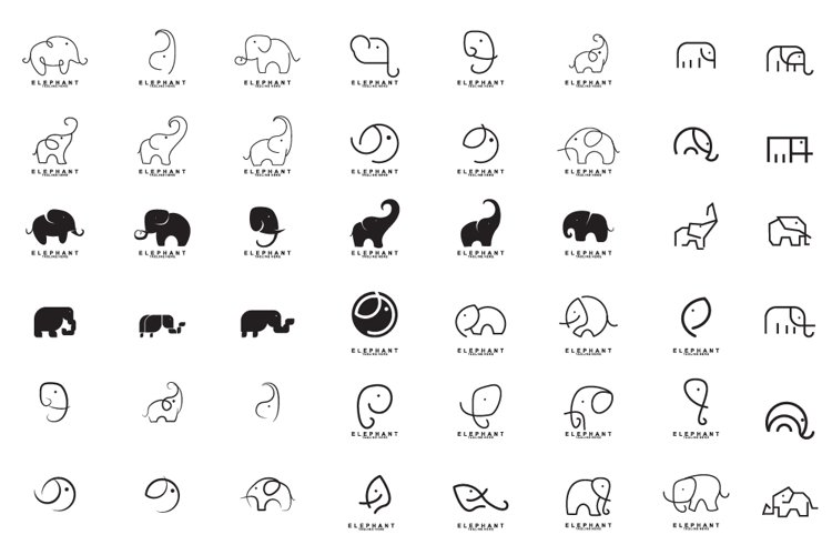Set of Elephant Logo Design example image 1