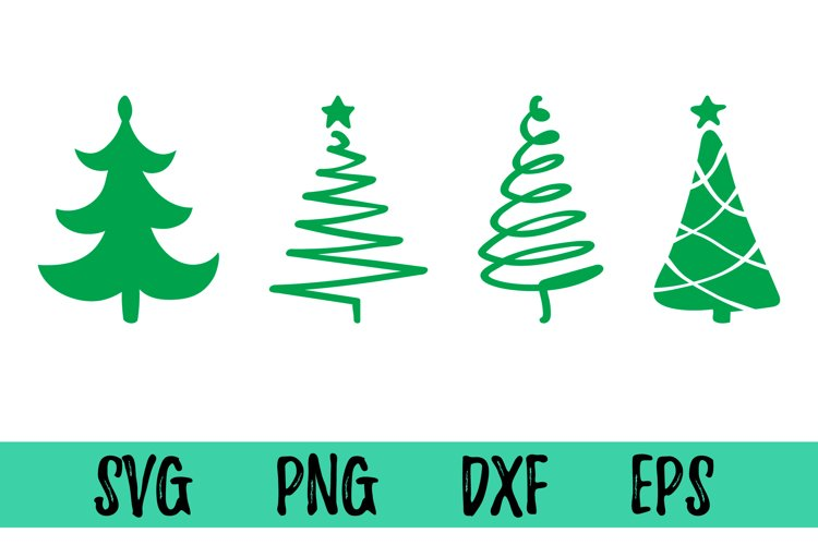 Christmas tree svg file for cricut. Silhouettes clipart dxf example image 1