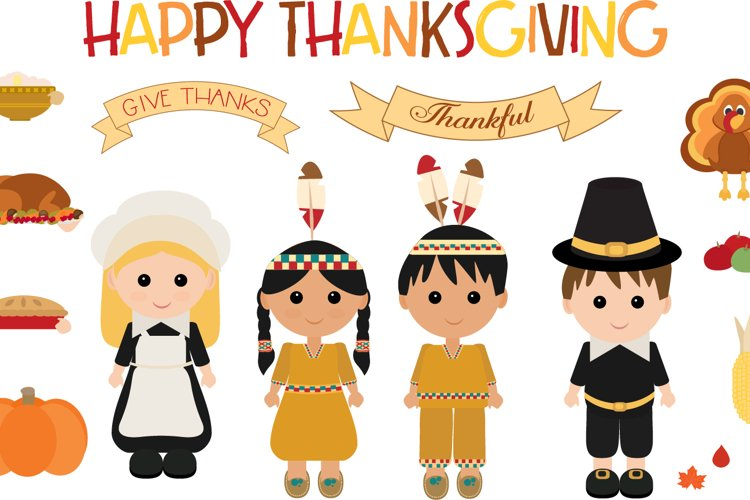 Thanksgiving Characters example image 1