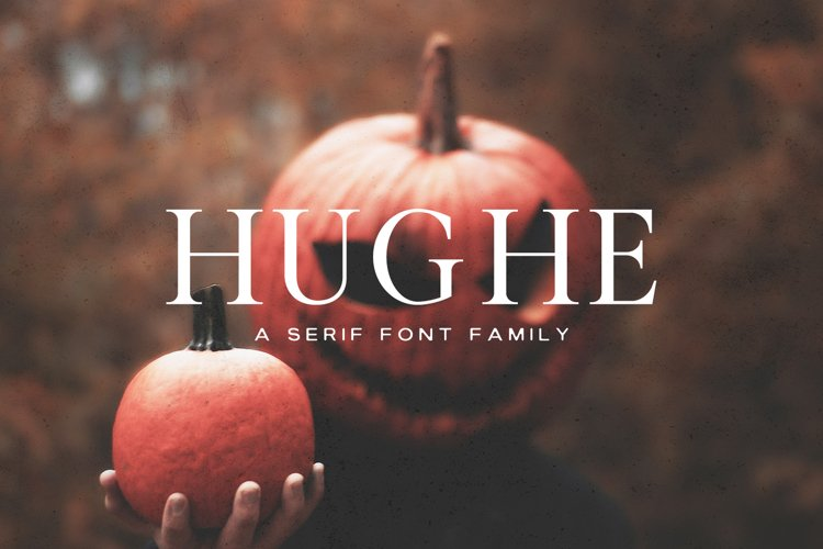 Hughe Serif Font Family example image 1