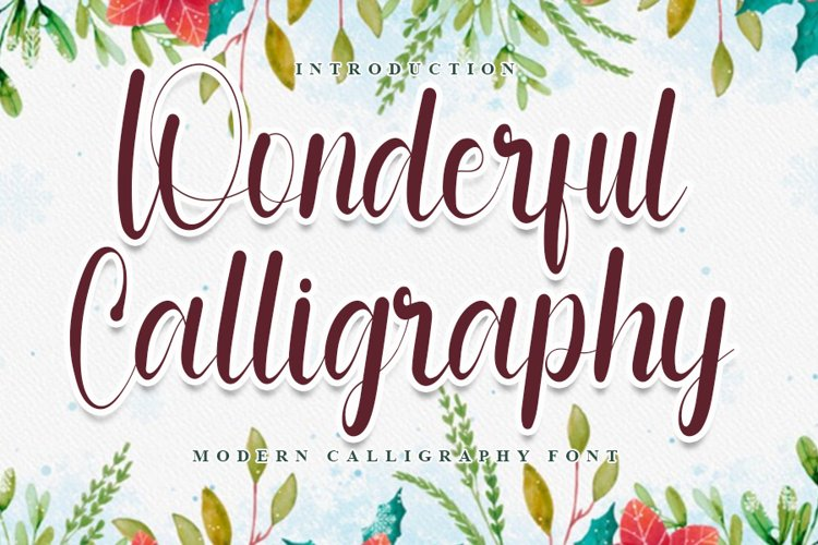 Wonderful Calligraphy - Modern And Beauty Font example image 1