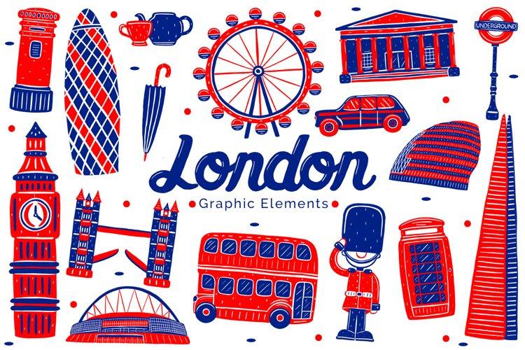 London Landmark Graphic Elements example image 1