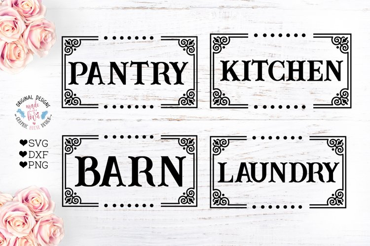 Laundry - Barn - Kitchen - Pantry Cut Files and Sublimation example image 1