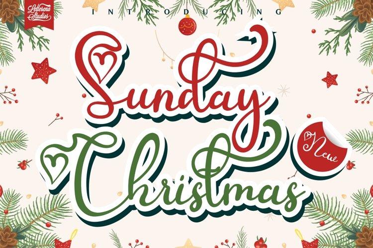 Sunday Christmas - Love Script Font example image 1