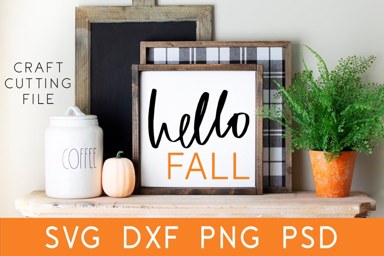 Hello Fall SVG   Fall Front Porch Sign   Fall SVG   Autumn