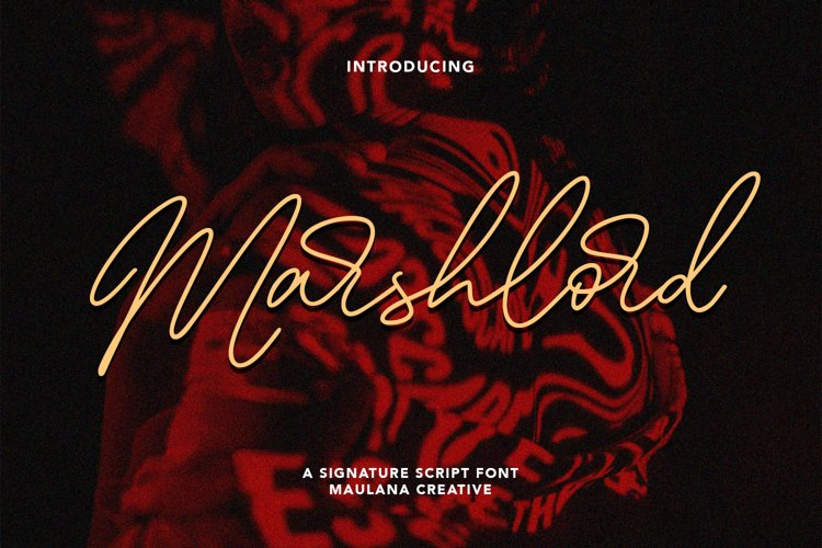 Marshlord Signature Script Font example image 1
