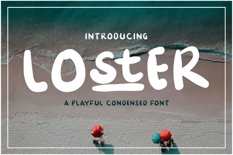 Loster | A Playful Condesed Display Font example image 1