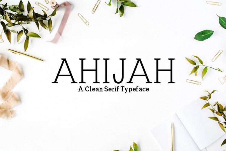 Ahijah A Clean Minimal Serif Typeface example image 1