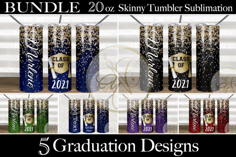 BUNDLE Graduation 2oz Skinny Tumbler Sublimation example image 1
