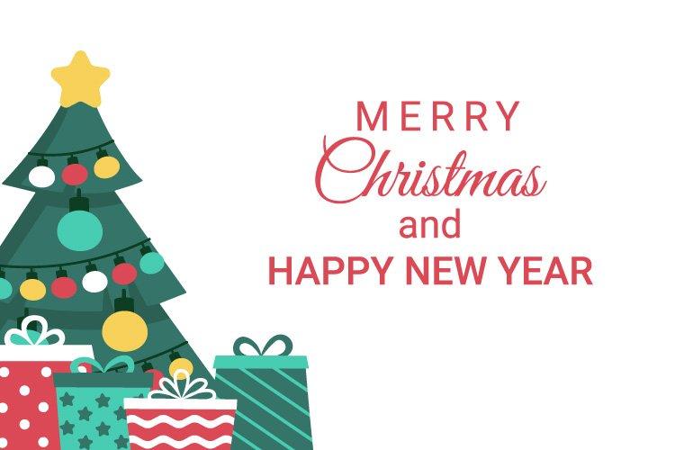 Christmas tree and gifts, JPG EPS