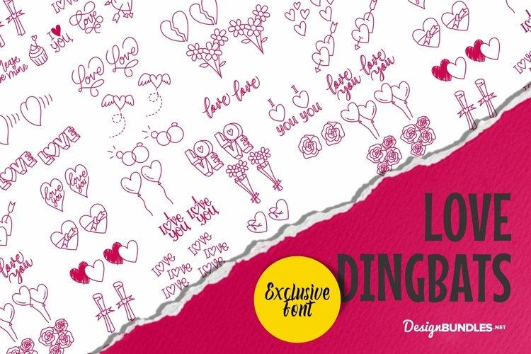 Web Font Love Dingbat example image 1
