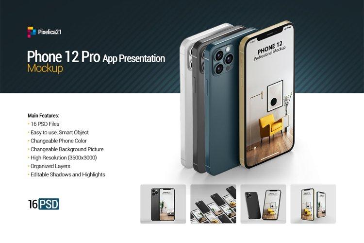 iPhone 12 Pro - App Presentation Mockup example image 1