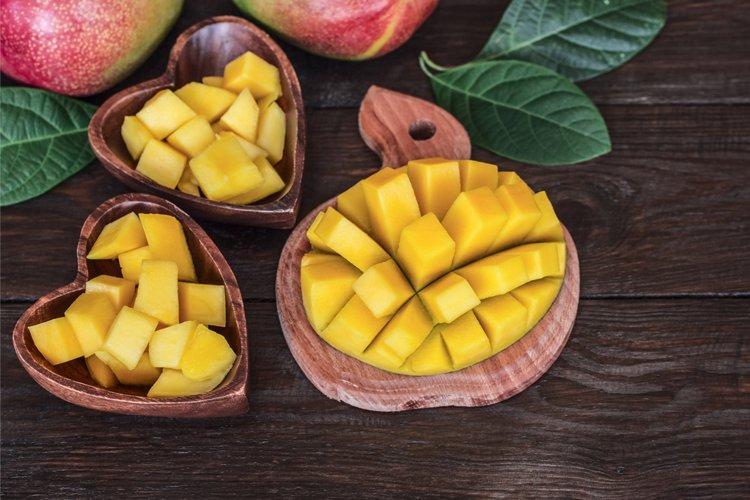 Fresh mango. Background with mango.