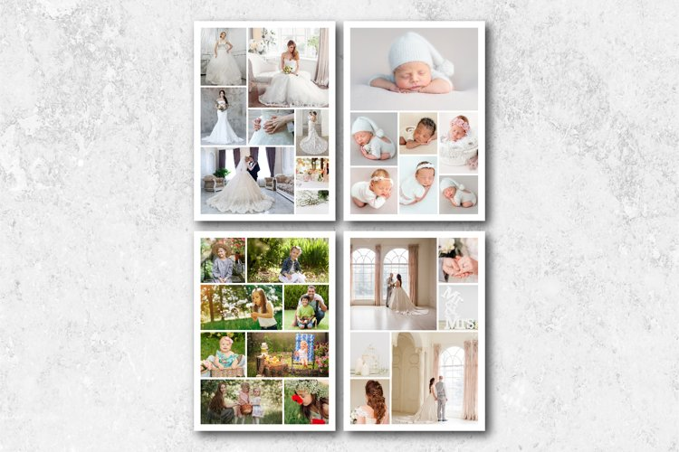 A4 Photo Collage Template example image 1
