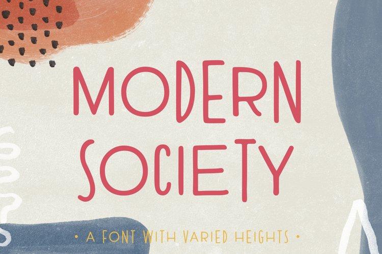Modern Society | An Irregular Sans Serif example image 1