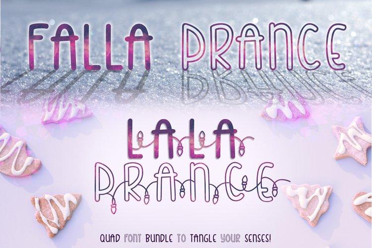 Falla & Lala Prance Bundle| A cute all caps quad font example image 1