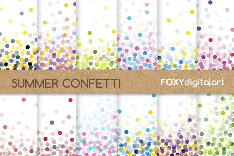 Confetti Digital Paper Scrapbook Throw Some Confetti example image 1