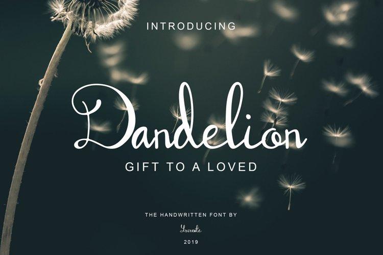 Dandelion | Handwritten Script Font example image 1