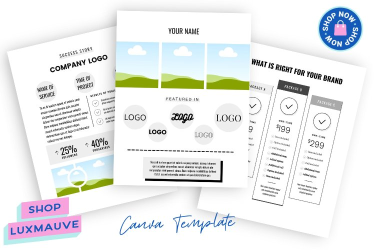 Services Guide Template Pricing Template Canva