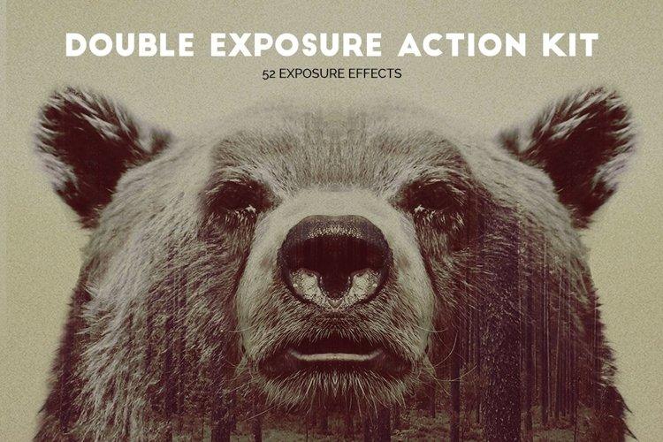 Double Exposure Photoshop Action Kit example image 1