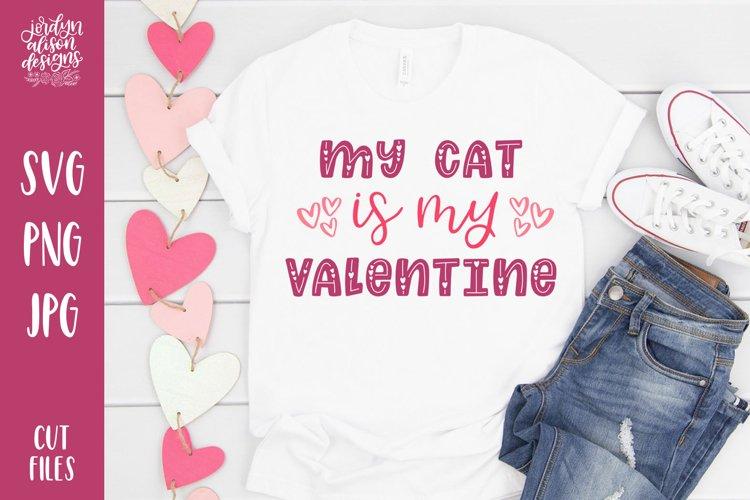 Download My Cat Is My Valentine Funny Svg Cut File 382104 Cut Files Design Bundles