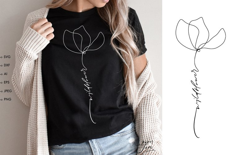 be kind flower svg for cricut cut files silhouette design png sublimation wildflower svg floral svg quote womens shirt svg inspirational svg