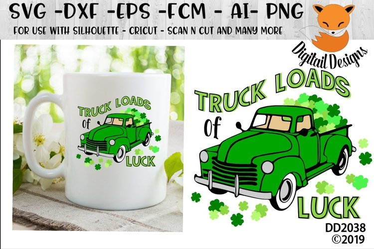 St Patrick's Day Irish Truck Loads Of Luck SVG example image 1