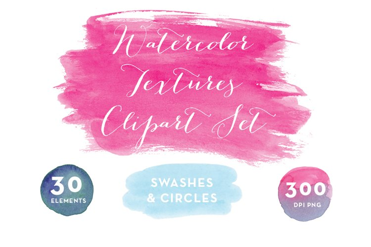 Watercolor Swashes Clipart Set example image 1