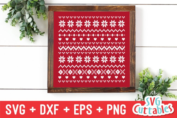Christmas SVG | Christmas Sweater Pattern example image 1
