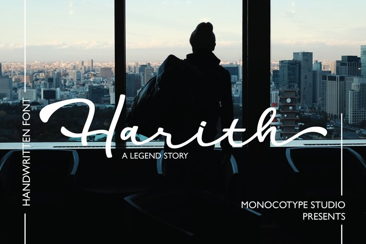 Harith Script Font example image 1