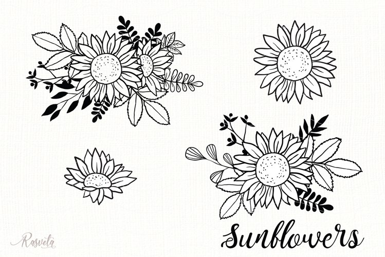 Sunflower Monogram Frames / 5 example image 1