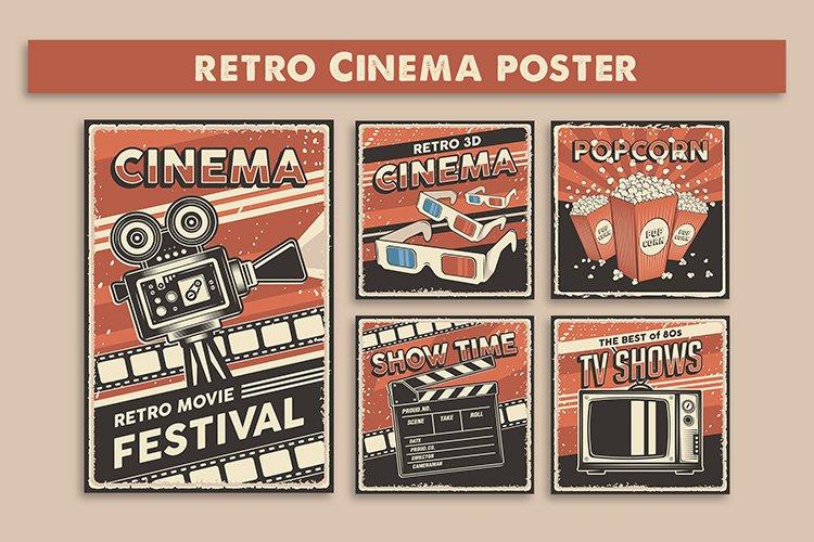 Retro Cinema Movie TV Show Poster example image 1