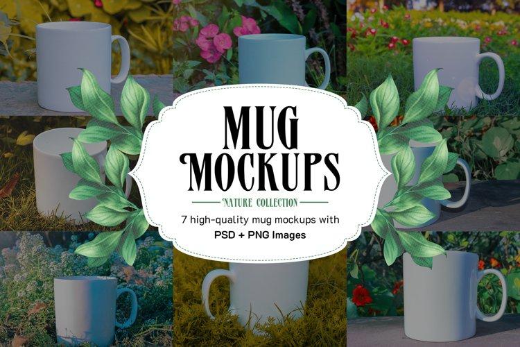 7 Photoshop Mug Mockups and 11 high quality PNG Images