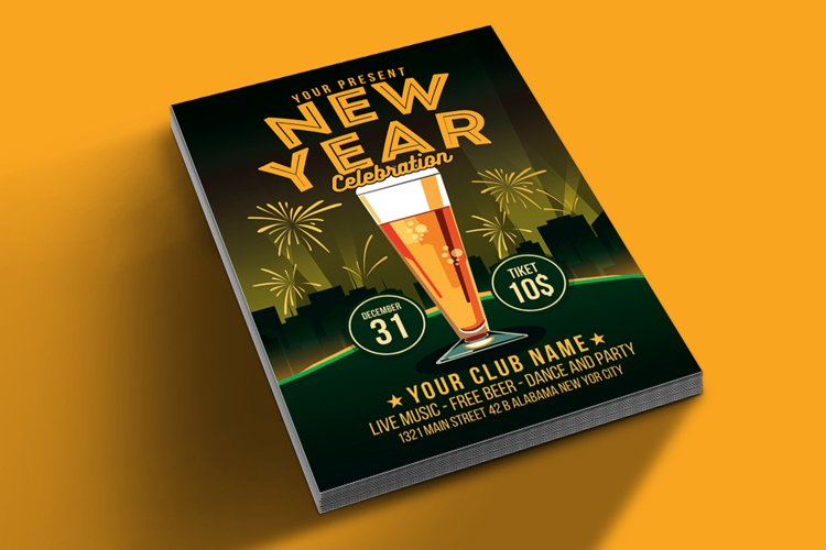 New Year Celebration Beer Party example image 1