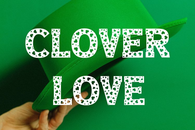 Clover Love - Saint Patrick's Day Font example image 1
