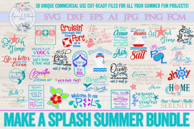 Make a Splash Summer Bundle of 30 SVG DXF Cut Files