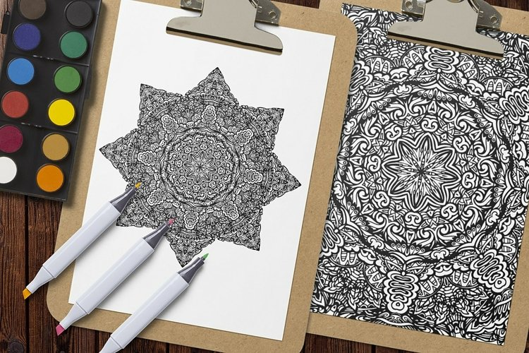 Mandala Coloring Pages Vol.6 example 3