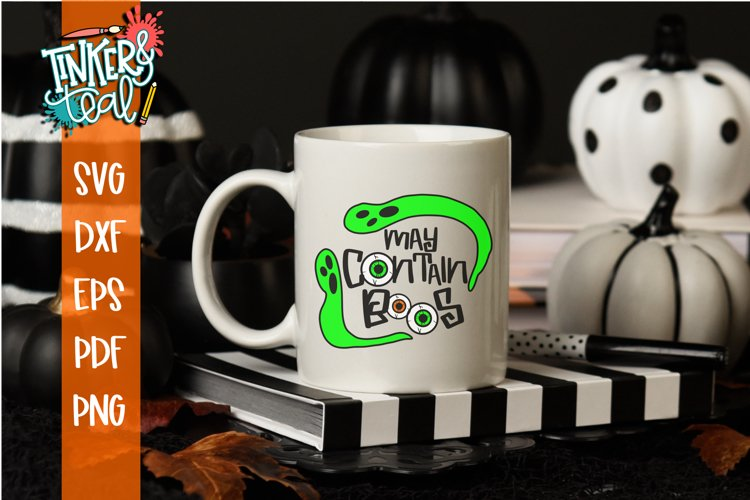 May Contain Boos Beer Halloween SVG Cut File example image 1